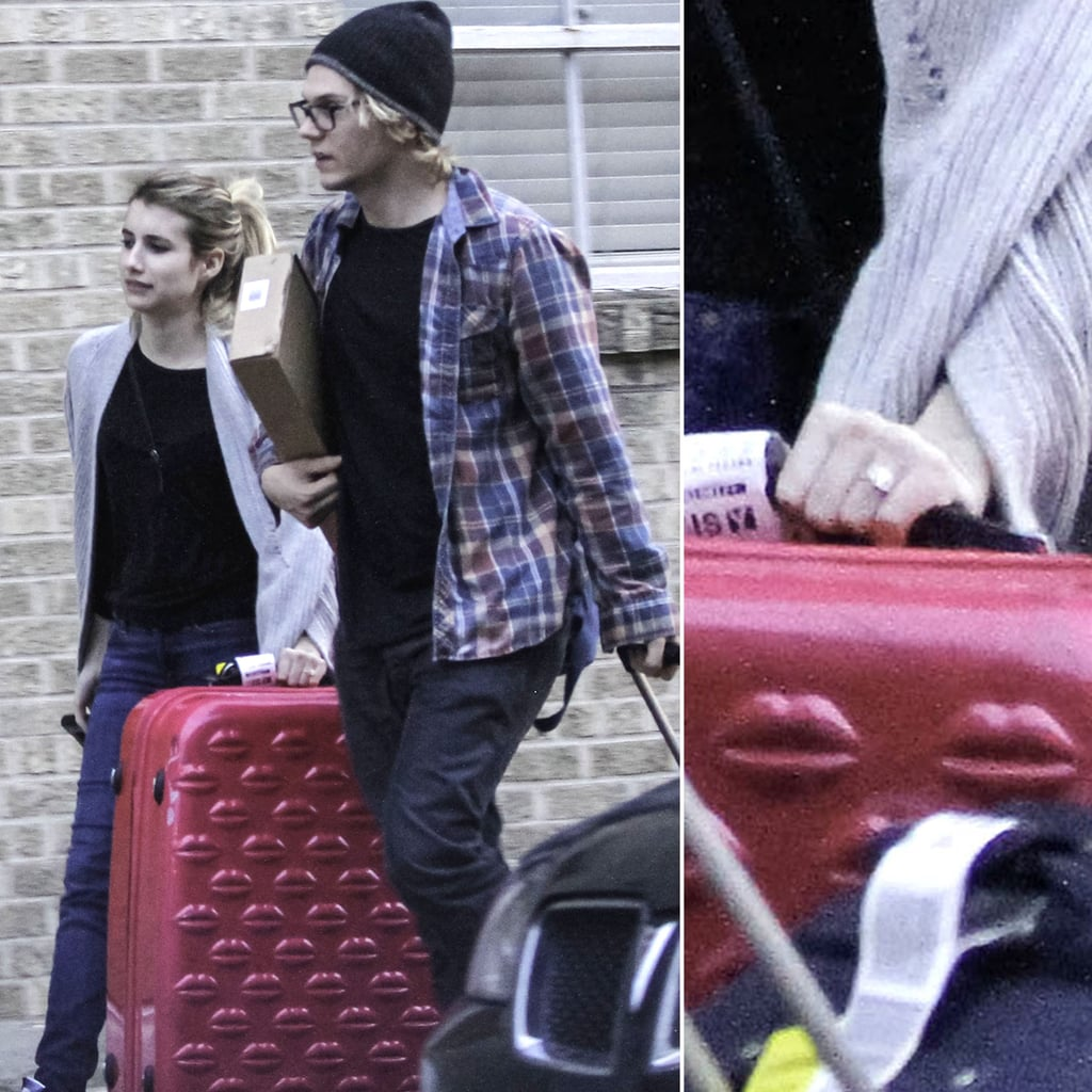 Emma Roberts Engagement Ring With Evan Peters
