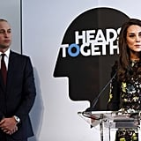 Kate Middleton Gives a Passionate Speech About Mental Health at an Event With William and Harry