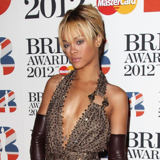 Rihanna Pictures in Givenchy at Brit Awards 2012