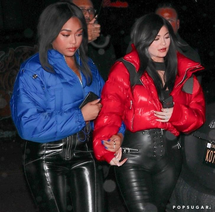 7f0417dd5 Kylie Jenner and Jordyn Woods Wearing Bomber Jackets | POPSUGAR Fashion