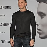Daniel Craig took a solo spin for the cameras.