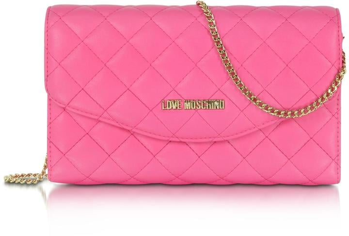 5d4e71d7232b Love Moschino Evening Quilted Eco Leather Crossbody Bag