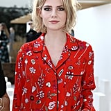 Lucy Boynton at the Markus Lupfer Show