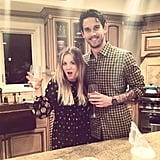"""Kaley Cuoco said she and fiancé Ryan Sweeting """"killed it"""" at their first Christmas together. The actress shared this Instagram snap of their holiday fun. Source: Instagram user normancook"""