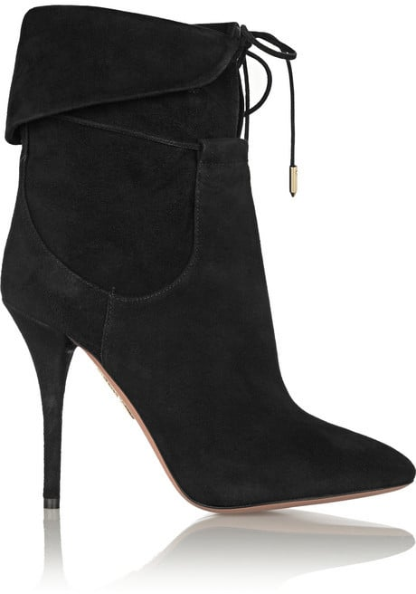 Aquazzura x Olivia Palermo Suede Ankle Boots
