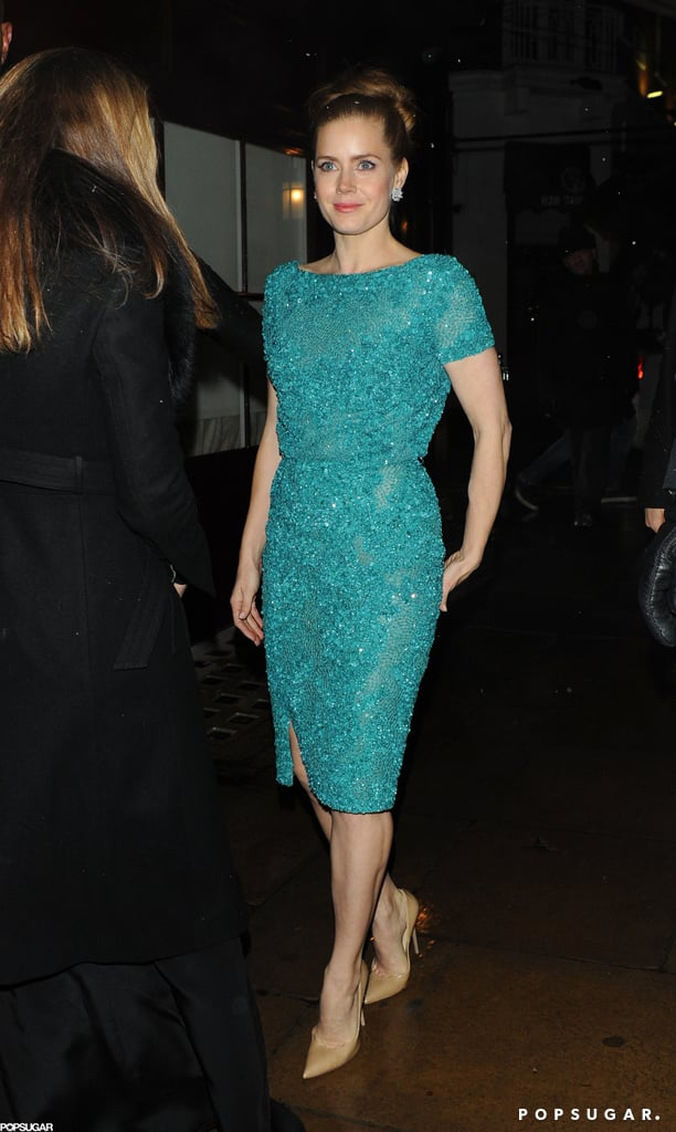 Amy Adams arrived at an after party in London.