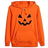 Kids Boys Girls Halloween Jack O' Lantern Pumpkin Face Costume Long Sleeve Hoodies