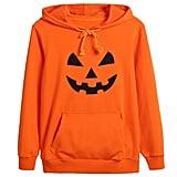 Kids Boys Girls Halloween Jack O' Lantern Pumpkin Face Costume Long Sleeve Hoodies
