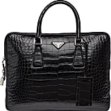Prada Crocodile Leather Briefcase
