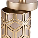 ORE International H Bamboo Weave Jewelry Box in Rose Gold ($63)