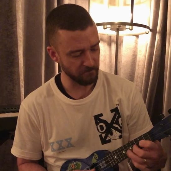 Justin Timberlake Playing With Son Silas's Guitar Video