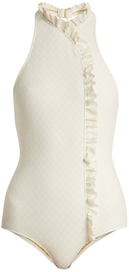 Made By Dawn Jeanie Ruffle-Trimmed Swimsuit