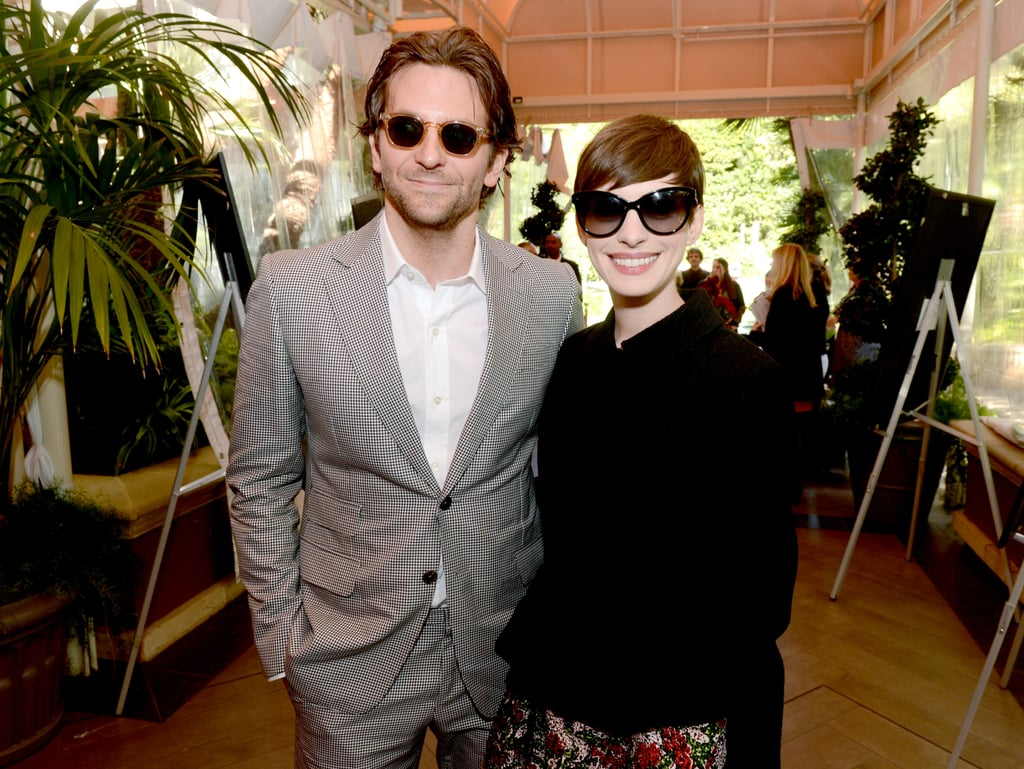 84e63f8088 Anne Hathaway and Bradley Cooper posed in sunglasses at the AFI Awards.