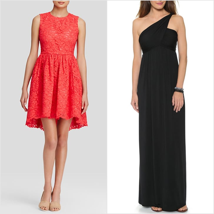 Kate Spade New York Cheerful and always feminine, Kate Spade should be a go-to search if you want your bridal party in sweet, girlie brights. Expect classic silhouettes with embellishments that make all the difference (like the lace cutout back dress, $498). Rachel Pally For comfortable dresses that your ladies will surely live in after your nuptials, consider a Rachel Pally number like black twist one-shoulder dress ($242). Mod Cloth With a large inventory that's refreshed on (what feels like) a near-constant basis, bookmark this ecommerce destination and check back frequently as you search. It could be your hero spot if you're searching for something unique with a Taylor Swift-twist.