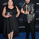 Raini and Rico Rodriguez at the Star Wars: The Rise of Skywalker Premiere in LA