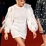 Kristen Stewart Worked the Feather Sleeves on Her Chanel Number