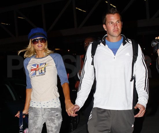 Photo Slide of Paris Hilton and Doug Reinhardt Arriving in NYC