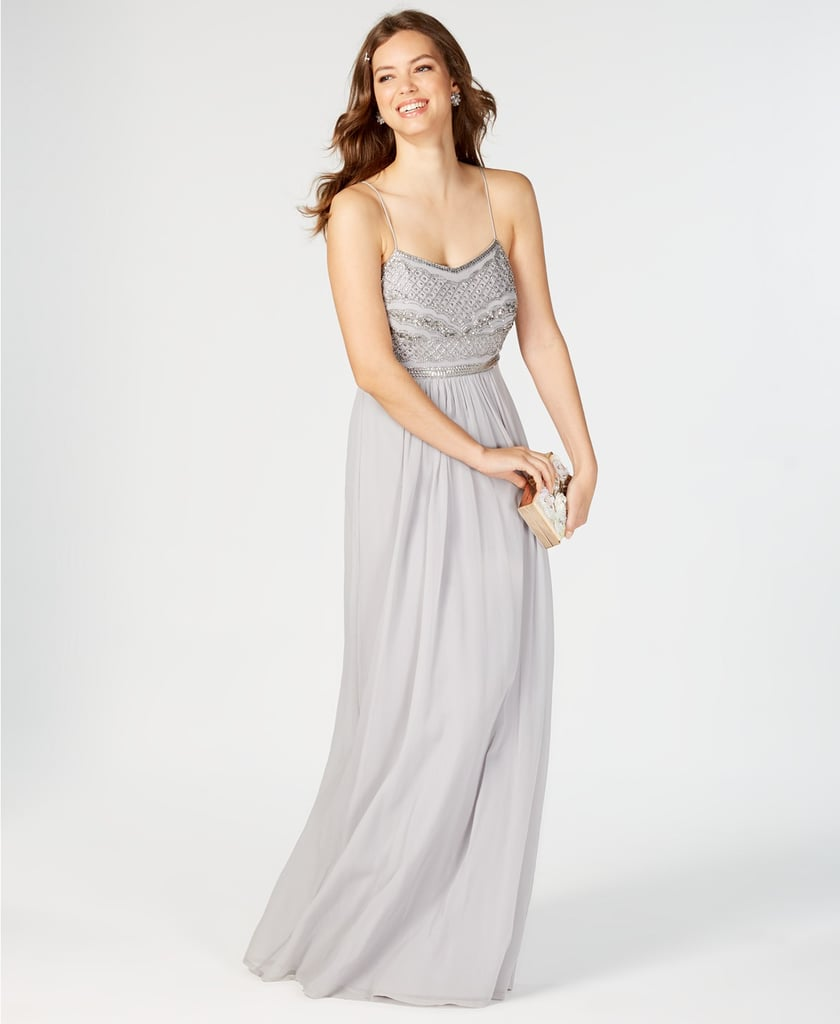 Adrianna Papell Beaded Chiffon Gown   Priyanka Chopra\'s Giorgio ...
