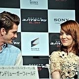 Andrew and Emma shared an adorable glance.