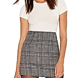 HaoDuoYi Plaid Mini Skirt