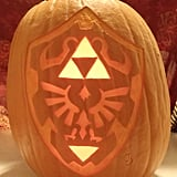 Hylian Shield From Zelda Pumpkin