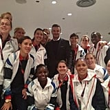 Team GB met with David Beckham. Source: Twitter user karenjcarney