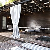 The large cabana, complete with its own bathroom and in-ground spa, emits a resort-like vibe.  Source: Bradley Meinz for Rodeo Realty