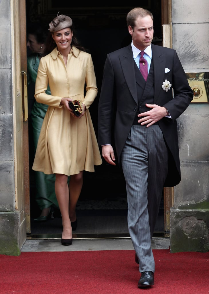 Kate Middleton and Prince William were together at the Thistle Ceremony in Scotland.