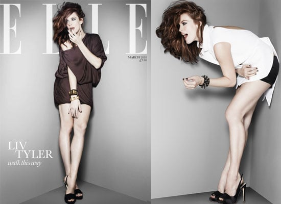 Photos of Liv Tyler on the Front Cover of UK Elle Magazine March 2010 Plus Extracts From Her Interview 2010-02-05 07:56:23