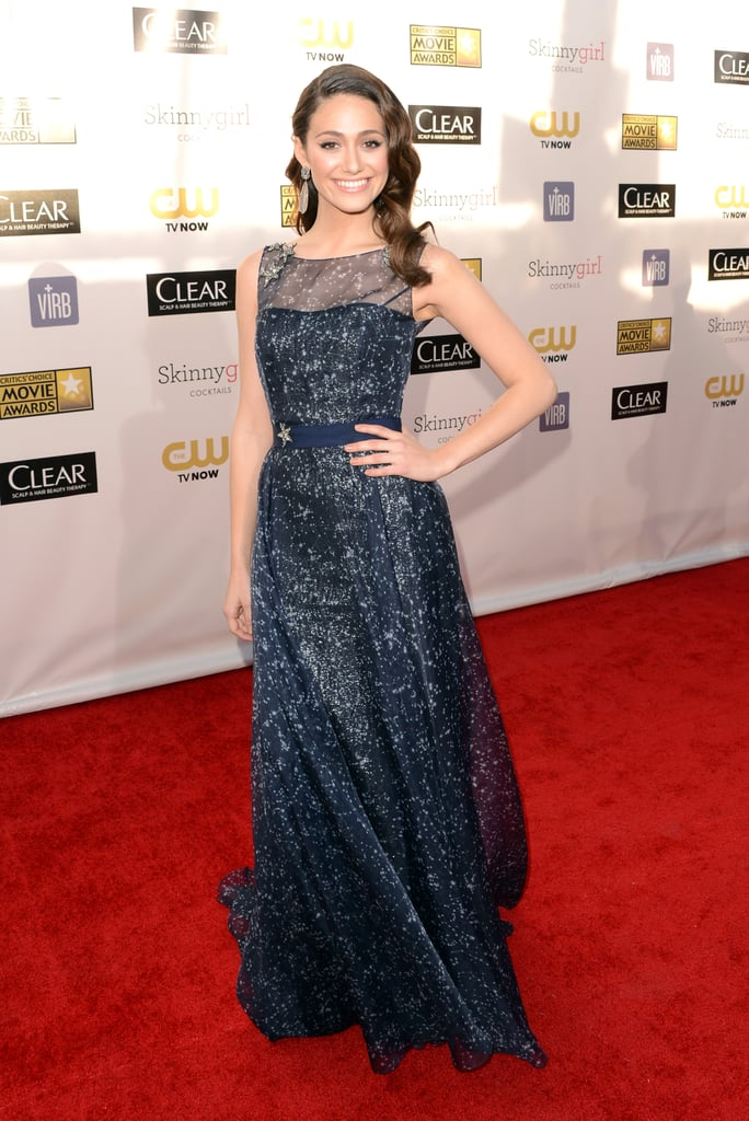 Emmy Rossum looking stunning in a sparkling gown.
