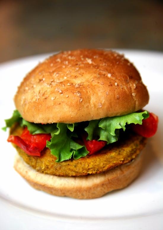 Spicy Chickpea Barley and Quinoa Veggie Burger