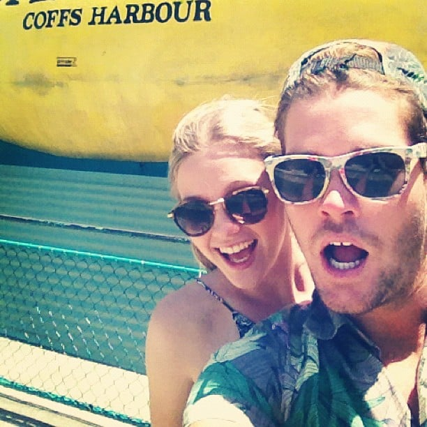 Model Nathan Jolliffe and girlfriend Abbey Ginns took in the tourist sights at Coffs Harbour. Source: Instagram user nathanjolliffe