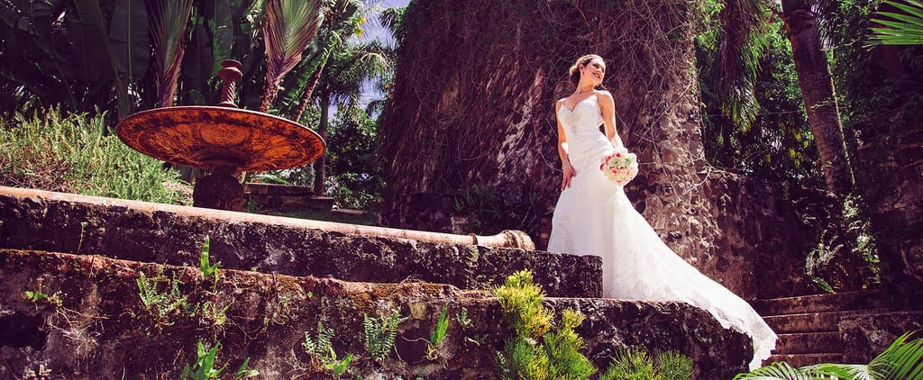 We Don't Know If We're More Floored by This Hawaiian Wedding Venue or the Bride's Gown