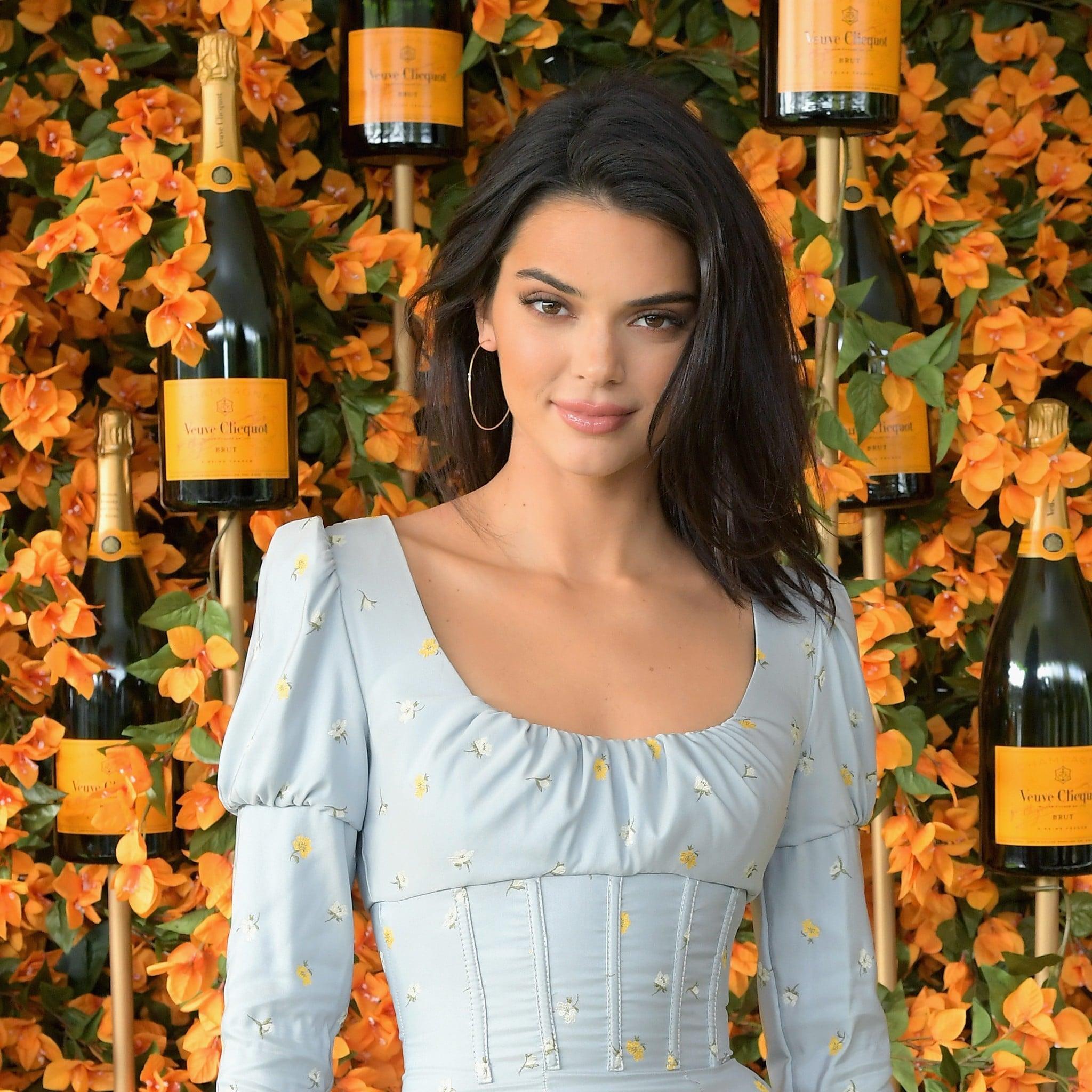 b4c8b6260567 Kendall Jenner s Blue Corset Dress October 2018