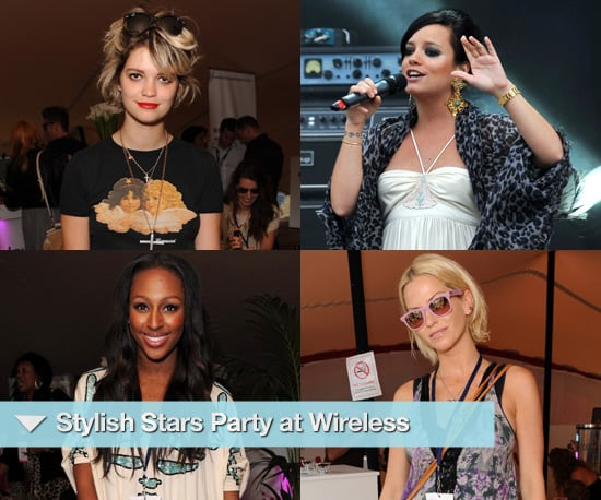 Photos of Celebrities at the 2010 Wireless Festival Including Lily Allen, Pixie Geldof and Sarah Harding