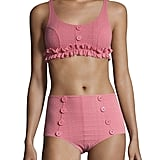 Lisa Marie Fernandez Two-PIece Colby Ruffle Button Bikini
