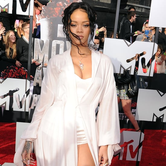 Rihanna Wearing a White Dress at the 2014 MTV Movie Awards