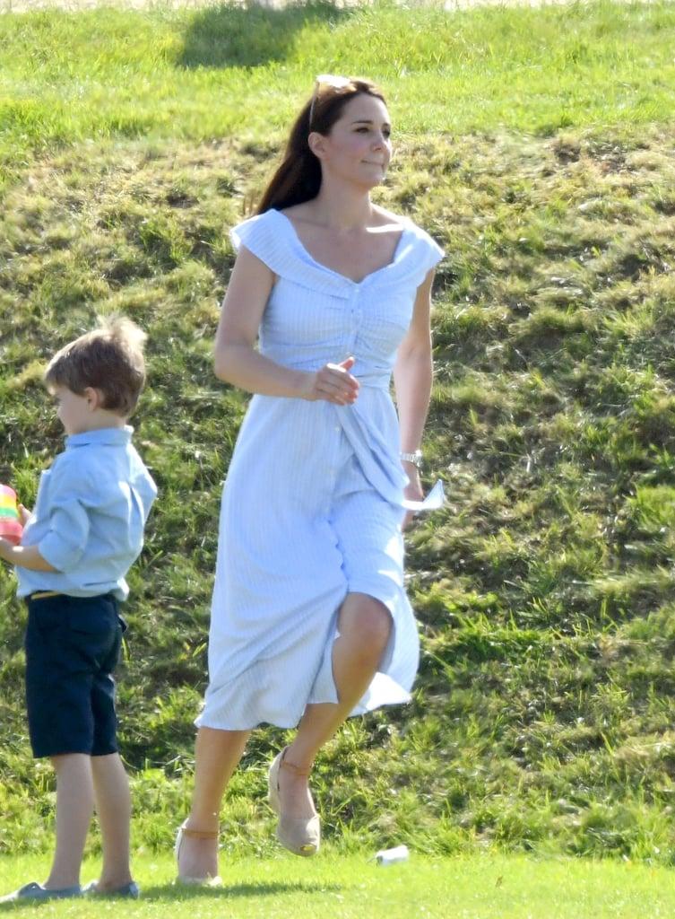 Kate Middleton in a Striped Zara Dress