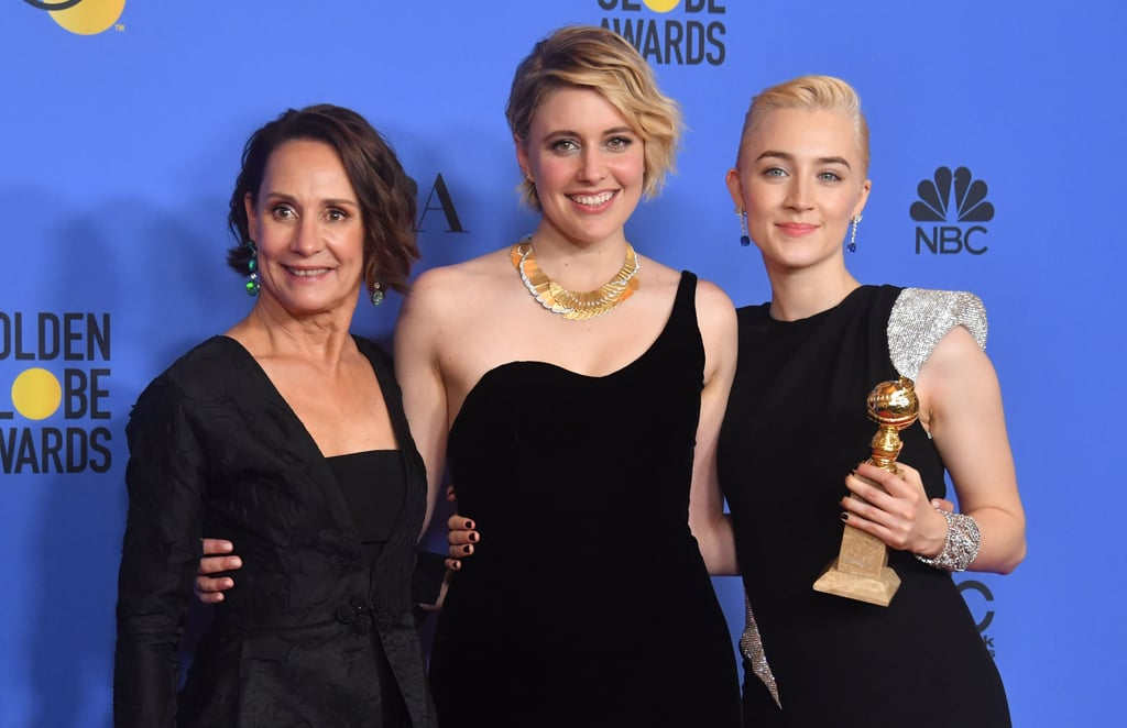 With Laurie Metcalfe and Greta Gerwig