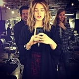 Chloë Moretz showed off her new hair color. Source: Instagram user cmoretz