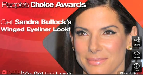 How-To: Wear Winged Eyeliner Like Sandra Bullock