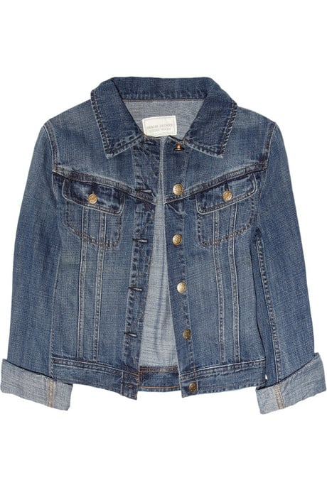 Layer this denim jacket underneath your outerwear to contrast leather bottoms for the quintessential downtown vibe.  J.Crew Bianca Denim Jacket ($98)