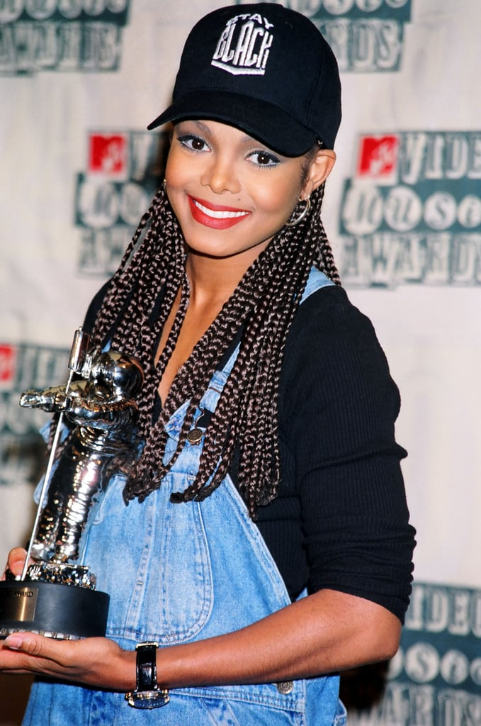 Celebrity box braids with color