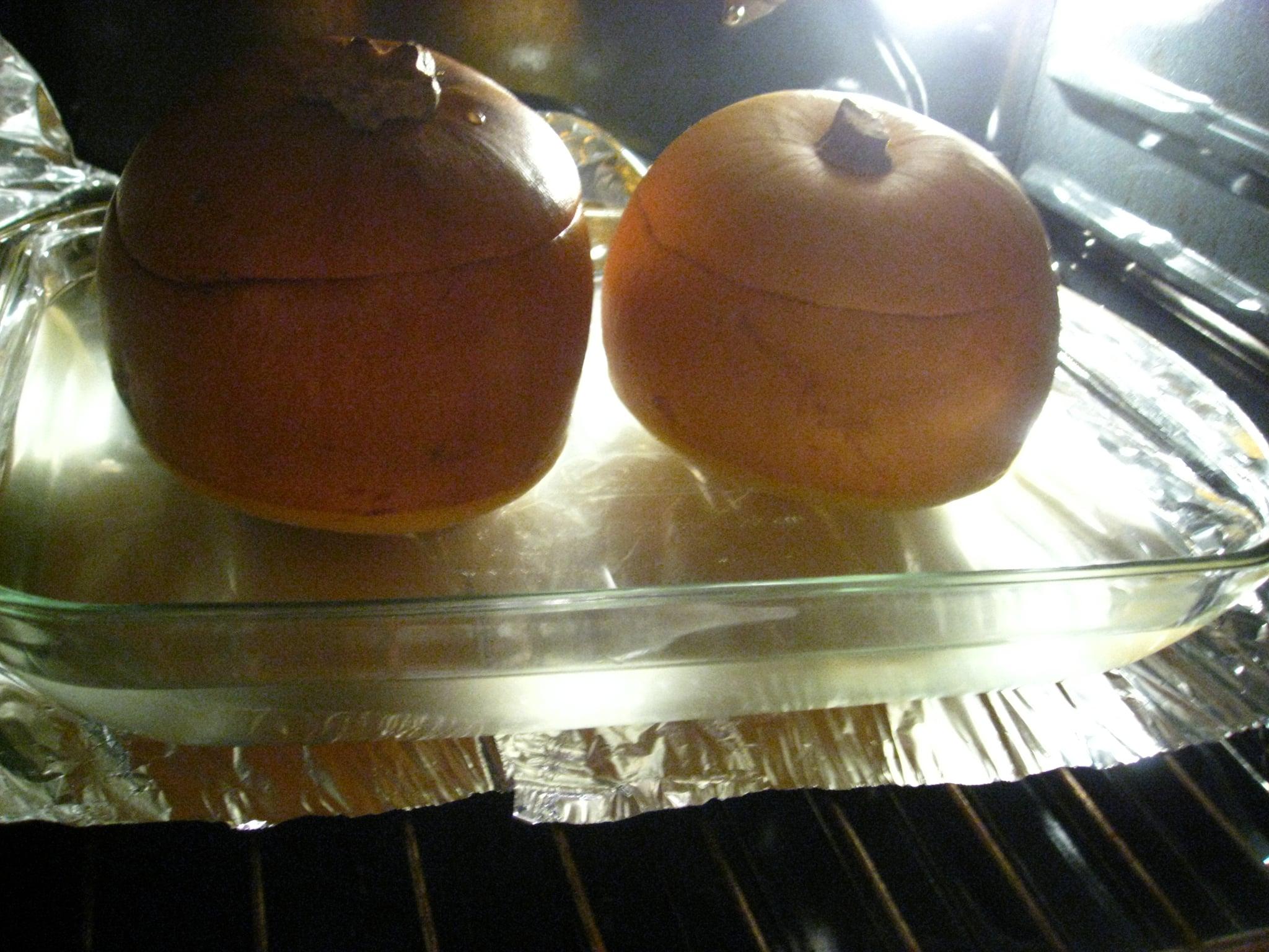 52 Weeks Of Baking Baby Pumpkins With Garlic Custard