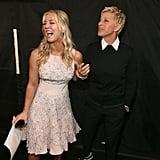 Kaley Cuoco and Ellen DeGeneres