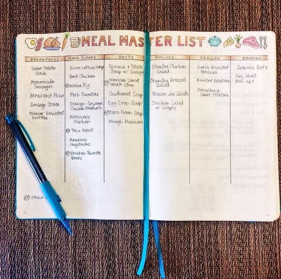 Bullet Journal Layouts For Health and Fitness Goals