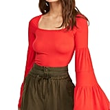 Free People Babetown Bell-Sleeve Top