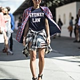 This attendee showed off the perfect t-shirt with a '90s-inspired twist. Source: Le 21ème   Adam Katz Sinding