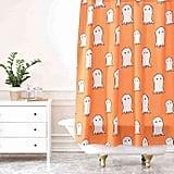 Deny Designs Allyson Johnson Ghosts Shower Curtain in Orange