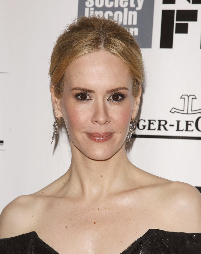 Sarah Paulson chose a monotone makeup palette of warm pinks at the All Is Lost, 12 Years a Slave, and Nebraska premieres.